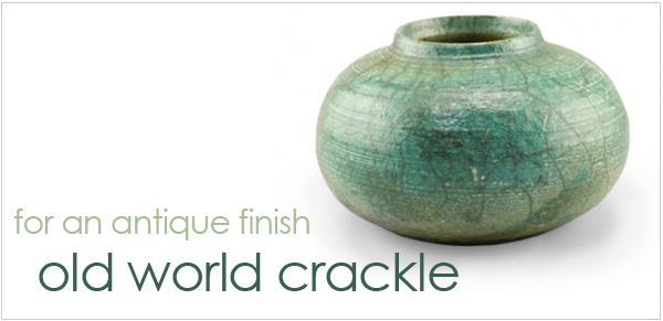 AMACO Old World Crackle Glazes