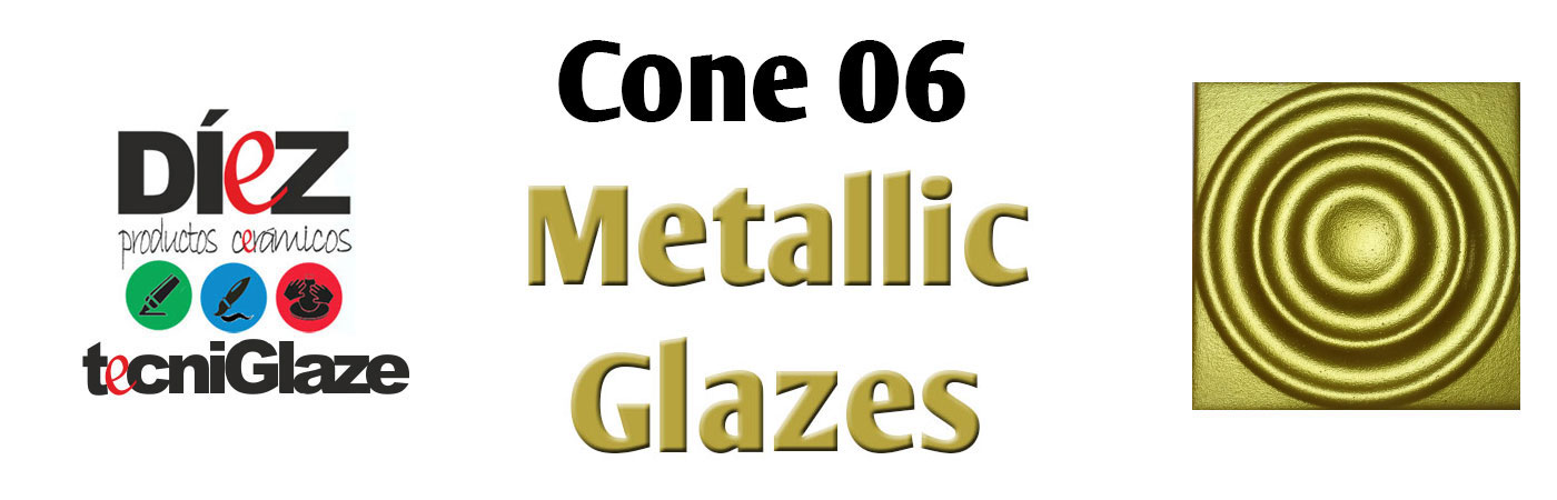 diez ceramic glaze glazes metallic gold silver discounted sale