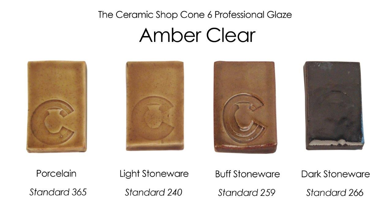 The ceramic shop glazes the ceramic shop amber clear glaze the ceramic shop cone 6 professional glaze geenschuldenfo Choice Image