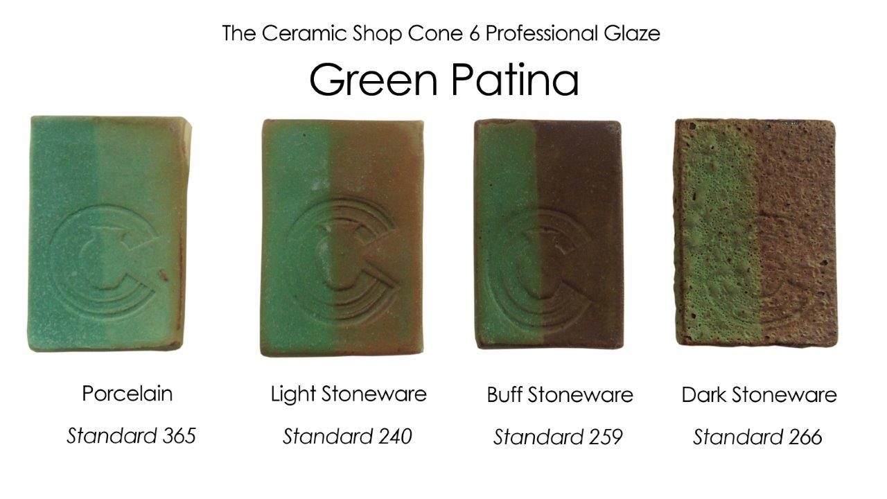 green patina glaze, the ceramic shop cone 6 professional glaze