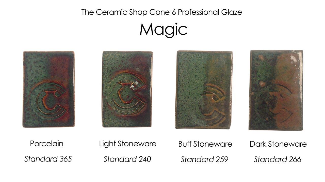 magic glaze, the ceramic shop cone 6 professional glaze