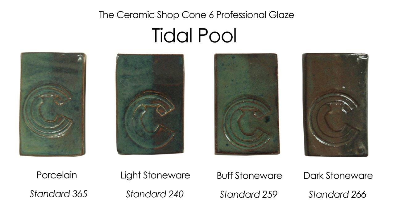 tidal pool glaze, the ceramic shop cone 6 professional glaze