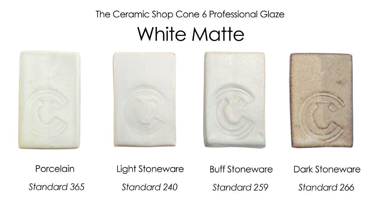 The ceramic shop glazes the ceramic shop white matte glaze the ceramic shop cone 6 professional glaze dailygadgetfo Choice Image