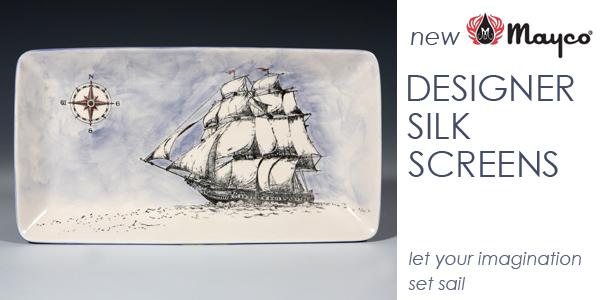 silk screen, screen printing on ceramic, printing on ceramic, printing on pottery