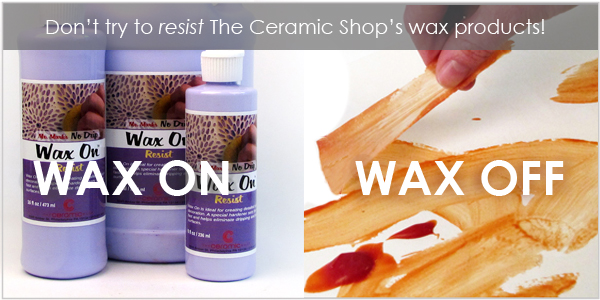 Wax resist for glazing bisqueware